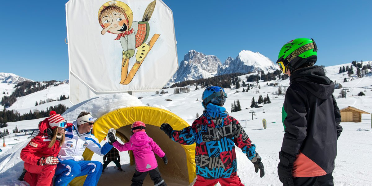 Families with children will enjoy great skiing fun